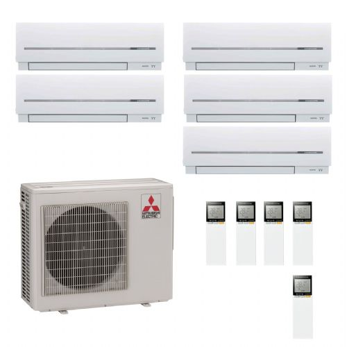 Mitsubishi Electric Air Conditioning MXZ-5D102VA 5 x 2.5Kw MSZ-SF25VA Multi Wall Air Conditioning A 240V~50Hz
